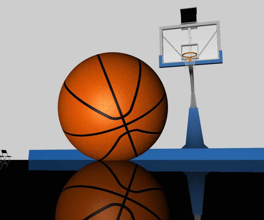 Basketball Court royalty-free 3d model - Preview no. 3