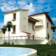Villa modell 3d model