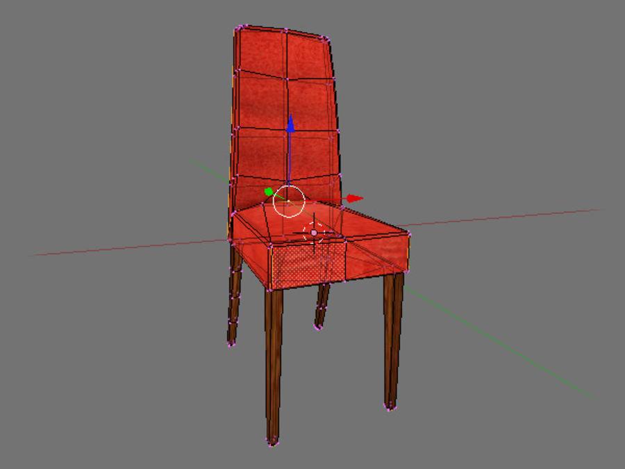 低聚椅 royalty-free 3d model - Preview no. 3