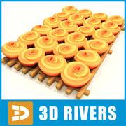 3DRiversのベーカリーボックス 3d model