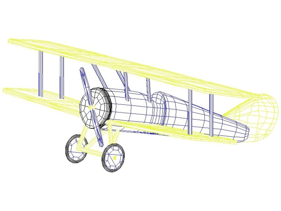 Toy Plane royalty-free 3d model - Preview no. 2