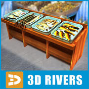 Stoisko rybne 3DRivers 3d model