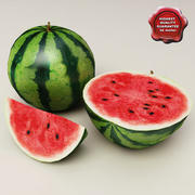Watermelons collection 3d model