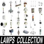 Lamps Collection 3d model