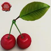Collezione di ciliegie 3d model