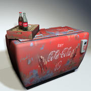 Cola Cooler Retro 01 3d model