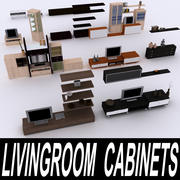 TV Cabinets Collection 3d model
