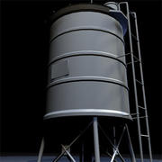 Roof Top Water Tank 02 3d model