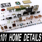 101 Home Details Collection 3d model