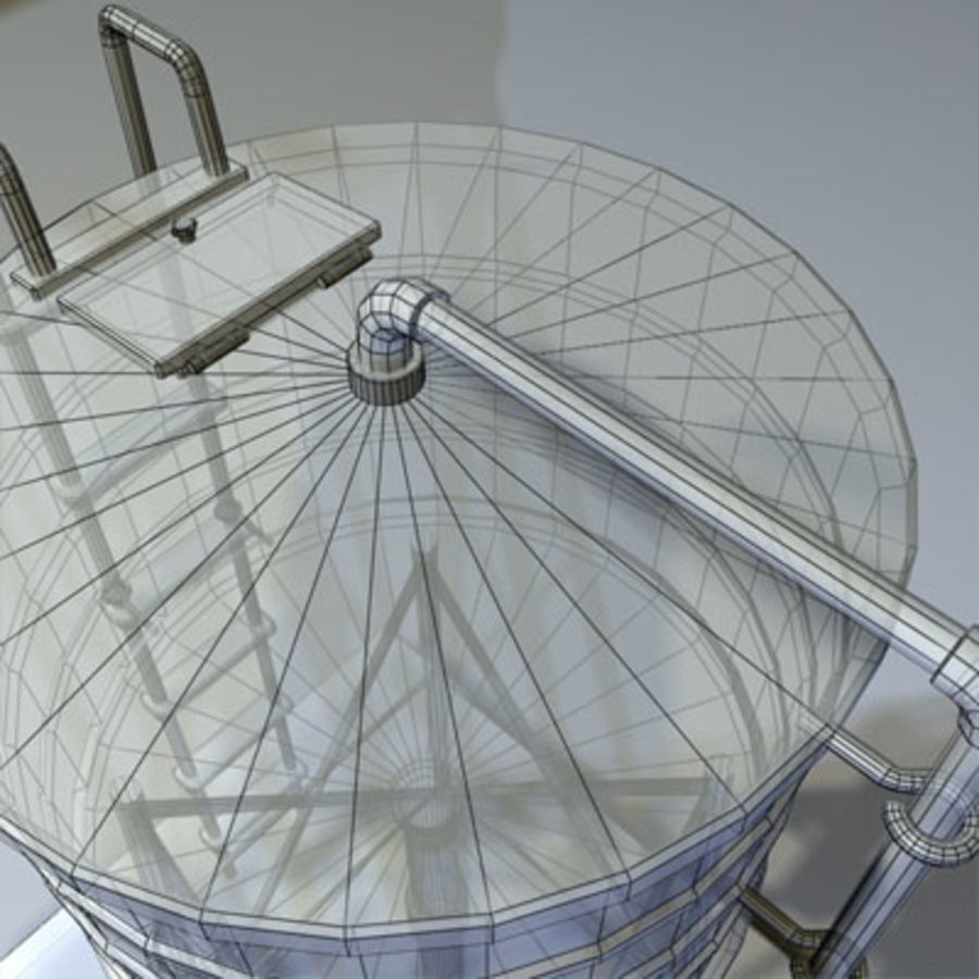 Roof Top Water Tank 03 royalty-free 3d model - Preview no. 4