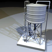 Zbiornik na wodę na dachu 03 3d model