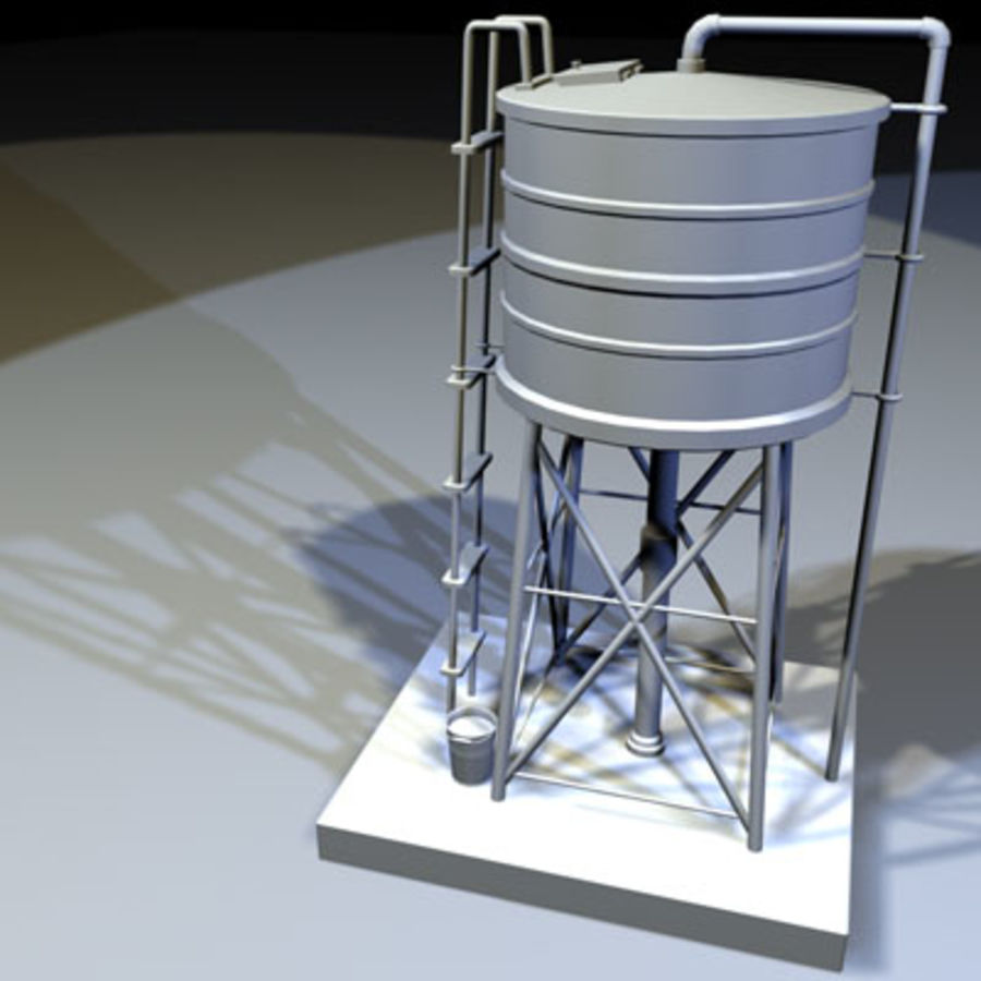 Roof Top Water Tank 03 royalty-free 3d model - Preview no. 1