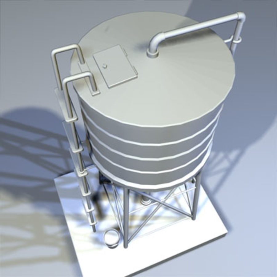 Roof Top Water Tank 03 royalty-free 3d model - Preview no. 5