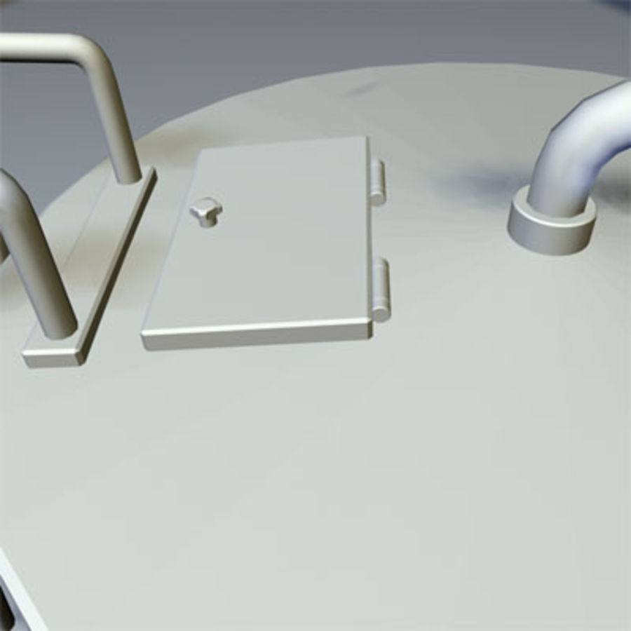 Roof Top Water Tank 03 royalty-free 3d model - Preview no. 8