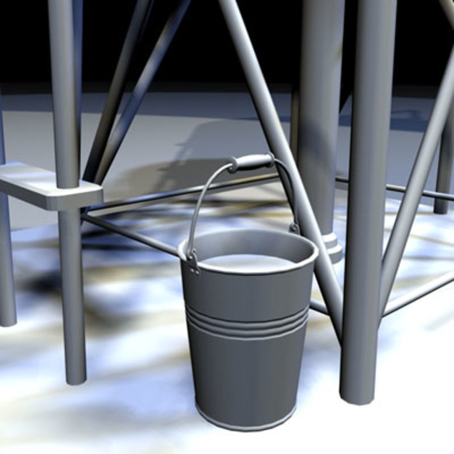 Roof Top Water Tank 03 royalty-free 3d model - Preview no. 6