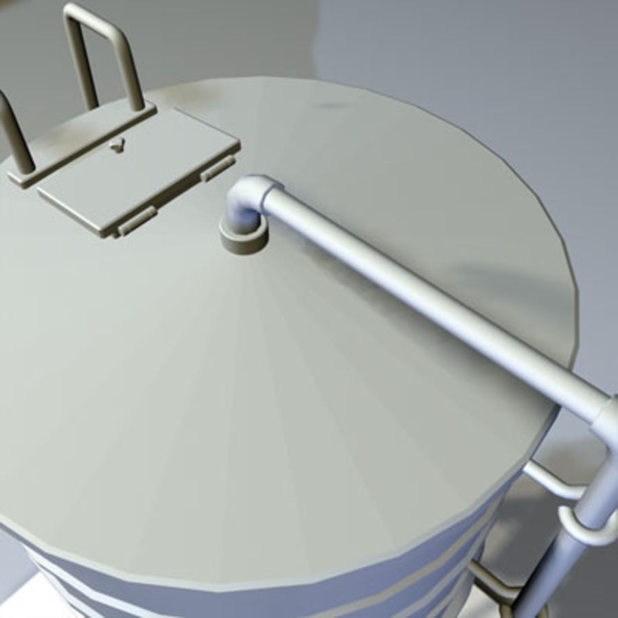 Roof Top Water Tank 03 royalty-free 3d model - Preview no. 3