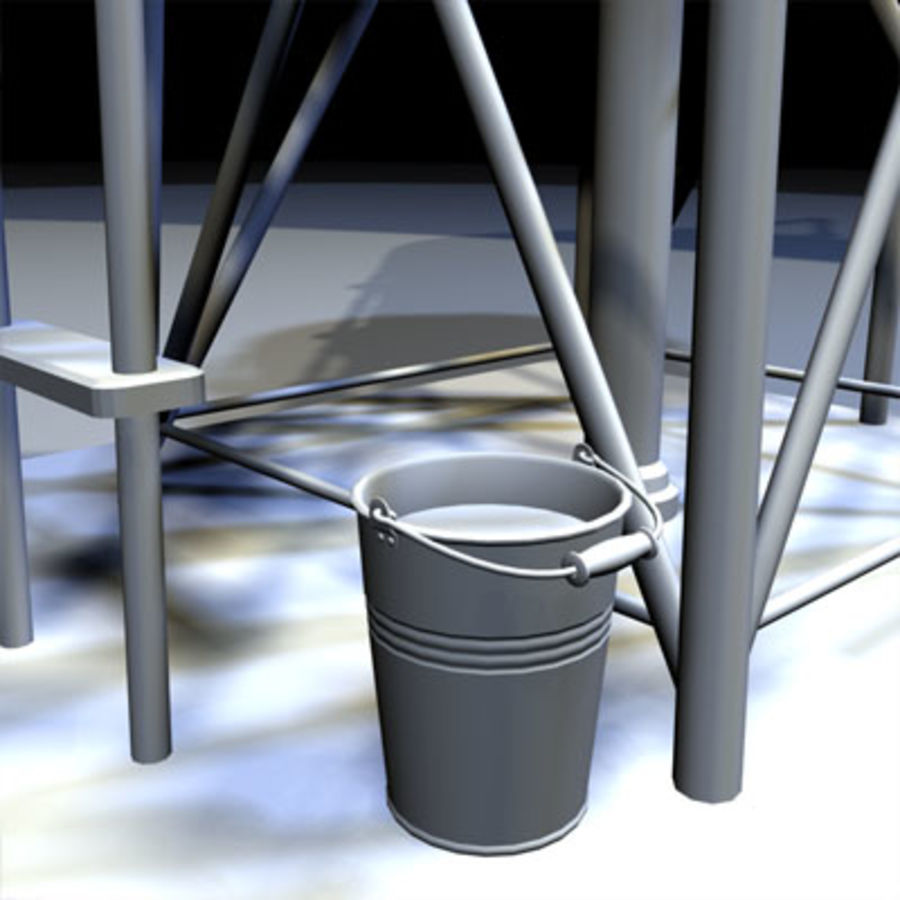 Roof Top Water Tank 03 royalty-free 3d model - Preview no. 7