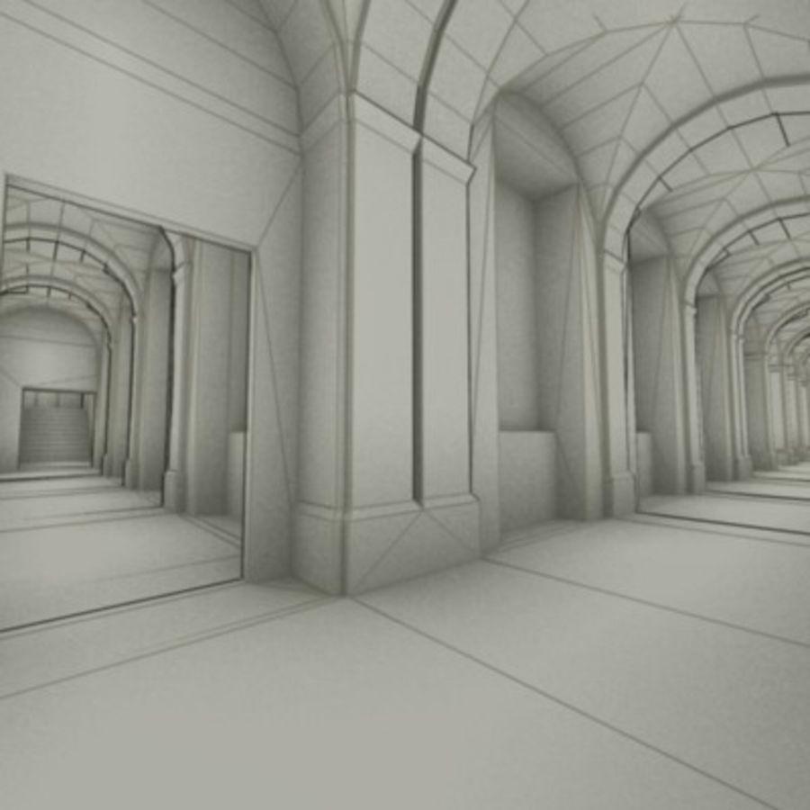 school interior royalty-free 3d model - Preview no. 11