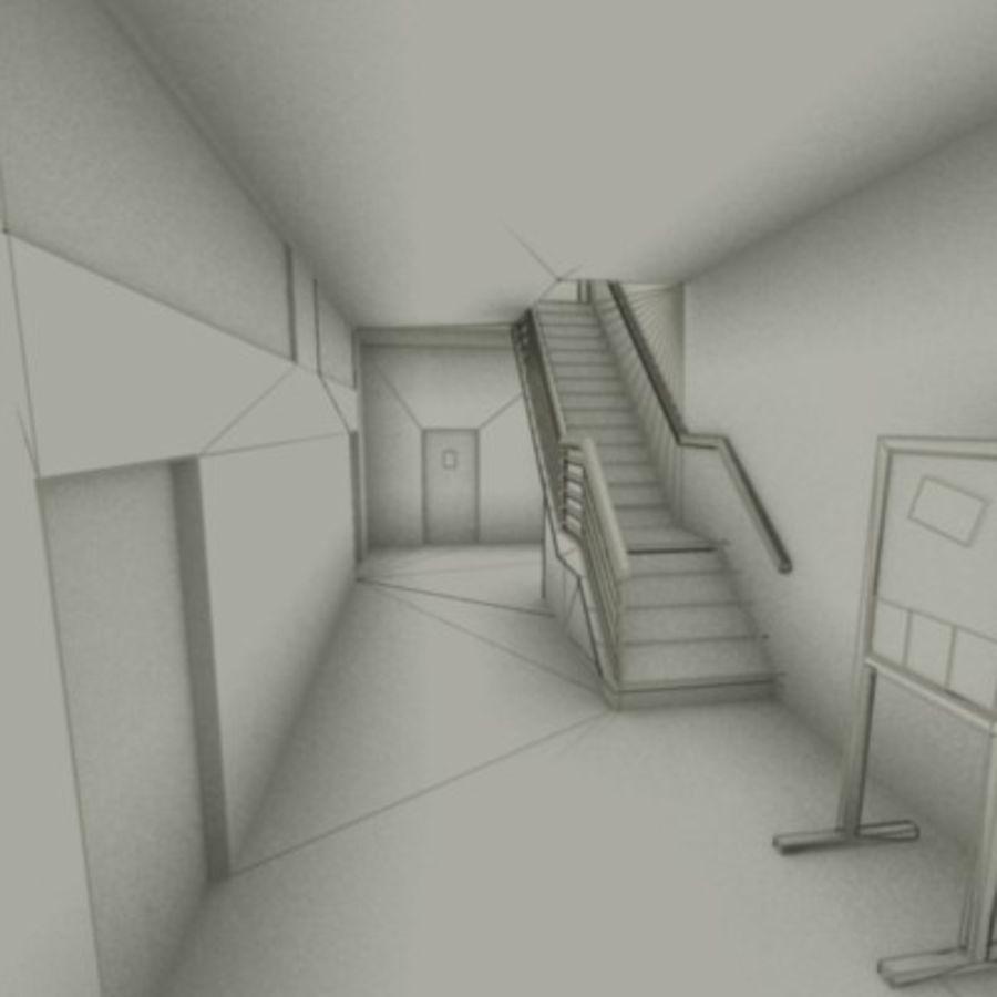 school interior royalty-free 3d model - Preview no. 28