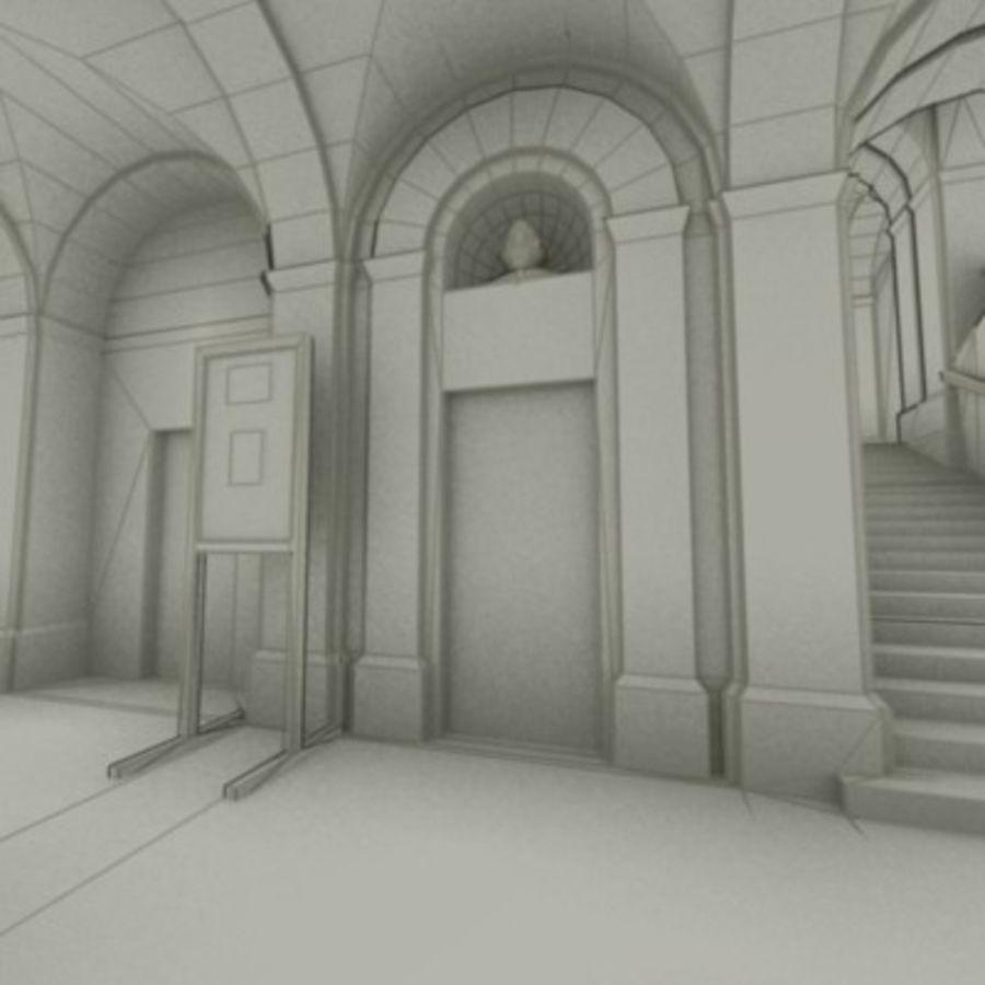 school interior royalty-free 3d model - Preview no. 38