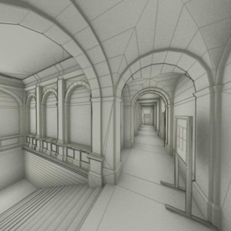 school interior royalty-free 3d model - Preview no. 46