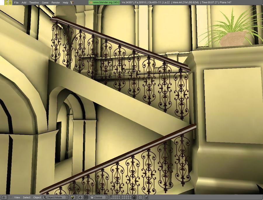school interior royalty-free 3d model - Preview no. 58