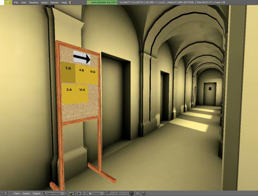 school interior royalty-free 3d model - Preview no. 56
