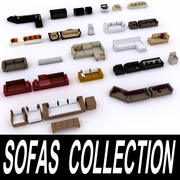 Sofas Collection 3d model
