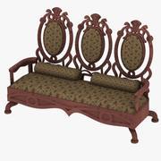 Antique Sofa(1) 3d model