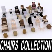 Stoelen en krukken Collectie 3d model