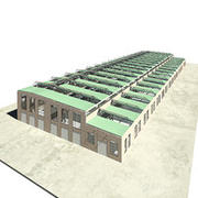 old industry factory 3d model