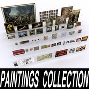 Paintings Collection 3d model