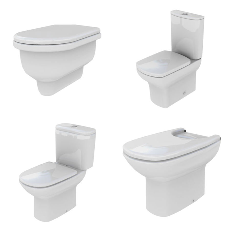 Bathroom Collection royalty-free 3d model - Preview no. 44