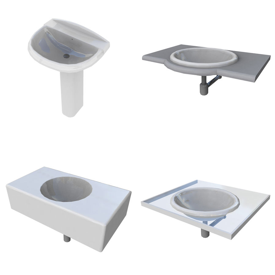 Bathroom Collection royalty-free 3d model - Preview no. 7
