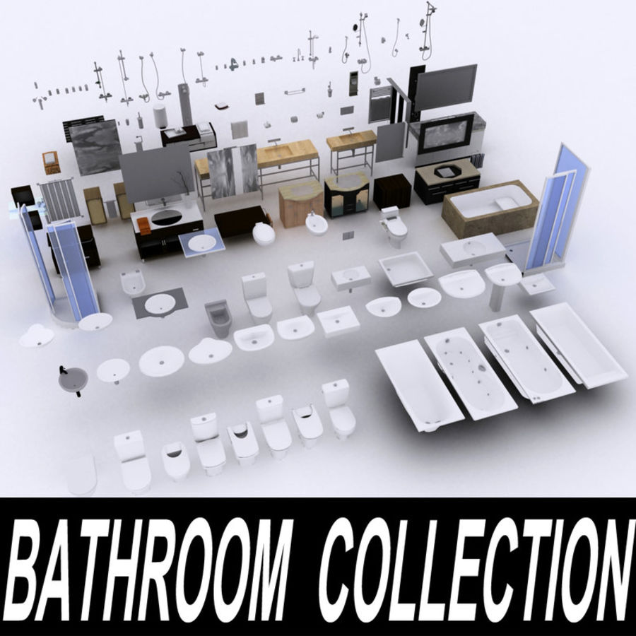 Bathroom Collection royalty-free 3d model - Preview no. 1