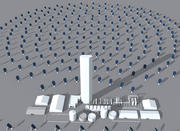 Solar Power Station 3d model