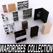 ワードローブと書棚のコレクション 3d model