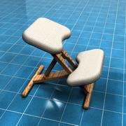 Chaise à genoux 3d model