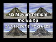 Templo maia 3D com 4 texturas diferentes 3d model