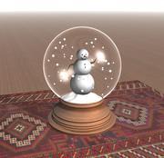 Snowman Snow Globe 3d model
