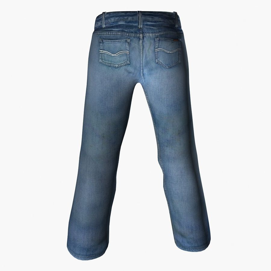 Jeans royalty-free 3d model - Preview no. 2