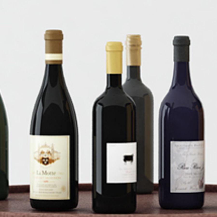 Bouteilles de vin et table royalty-free 3d model - Preview no. 4