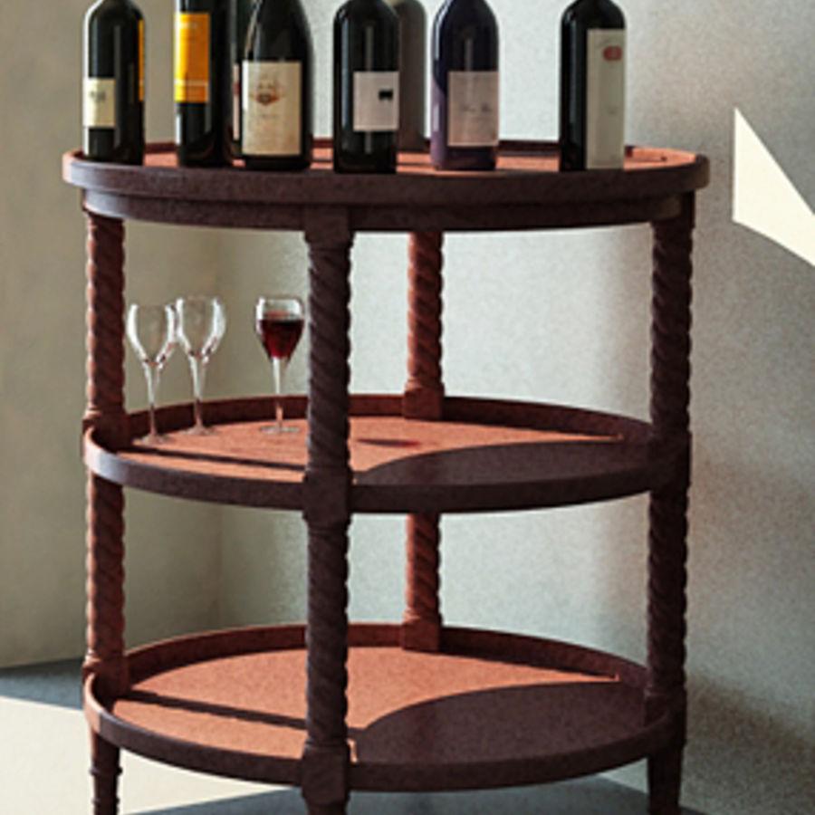 Bouteilles de vin et table royalty-free 3d model - Preview no. 2