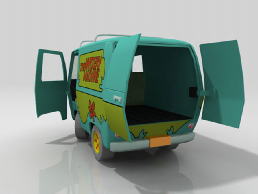 Cartoon_Van royalty-free 3d model - Preview no. 5