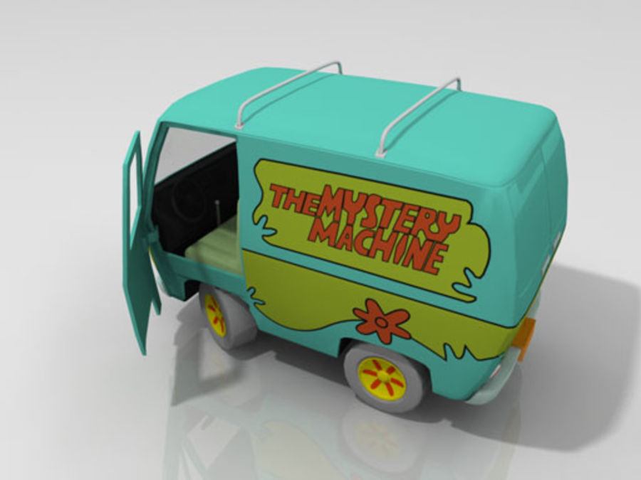 Cartoon_Van royalty-free 3d model - Preview no. 4