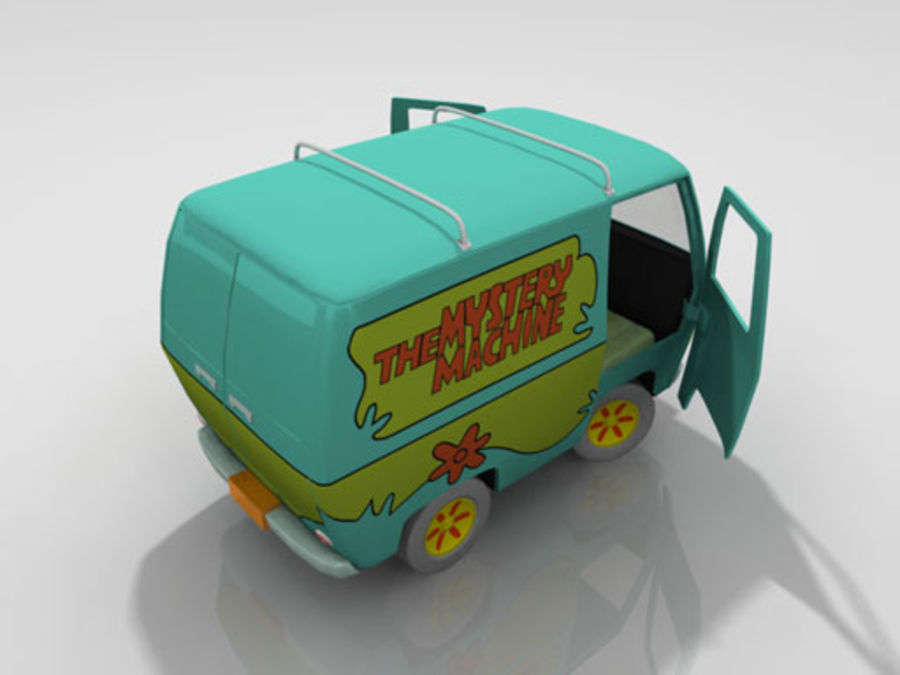 Cartoon_Van royalty-free 3d model - Preview no. 6