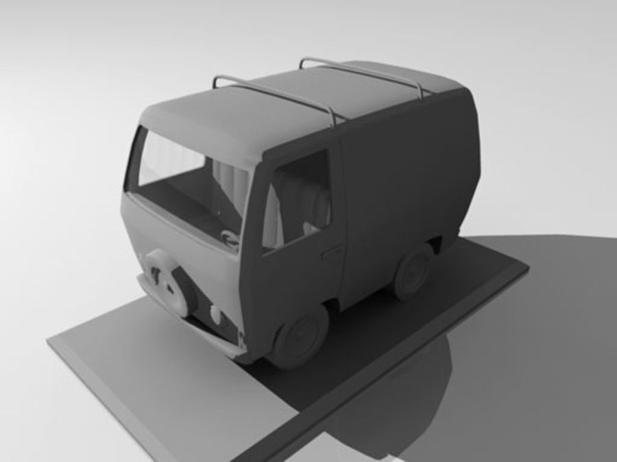 Cartoon_Van royalty-free 3d model - Preview no. 7