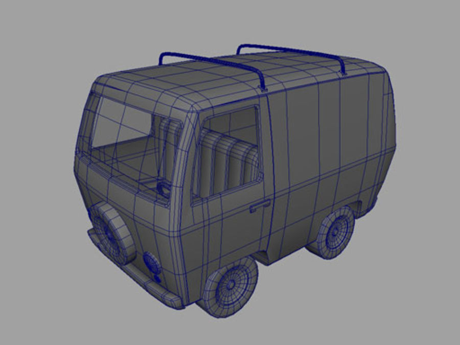 Cartoon_Van royalty-free 3d model - Preview no. 9