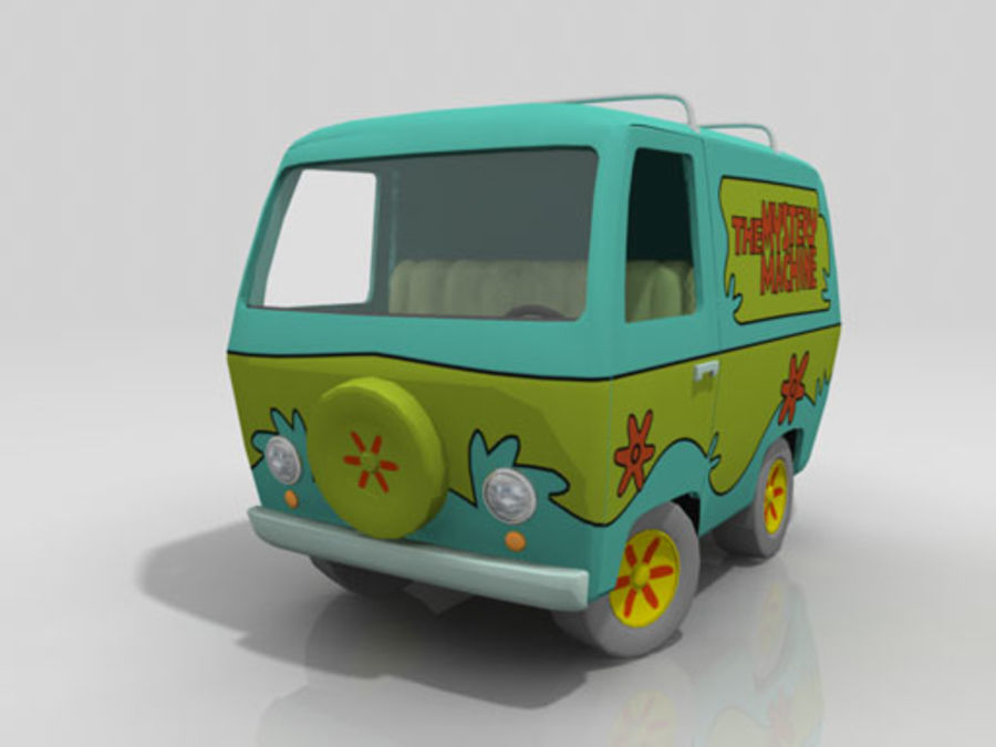 Cartoon_Van royalty-free 3d model - Preview no. 1