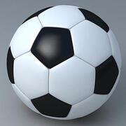 축구 공 고품질 3d model